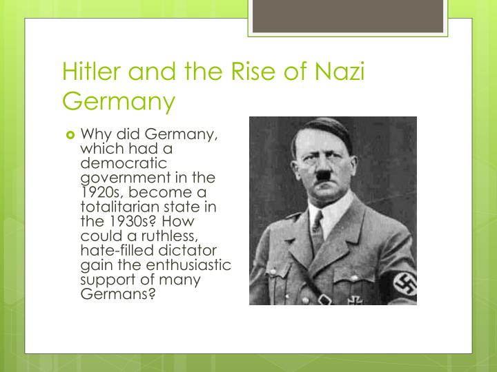 why did germany become a democratic