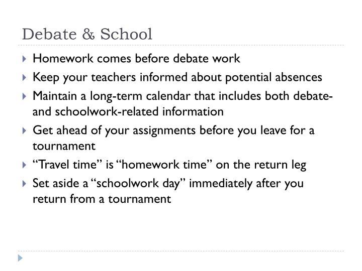 Debate & School