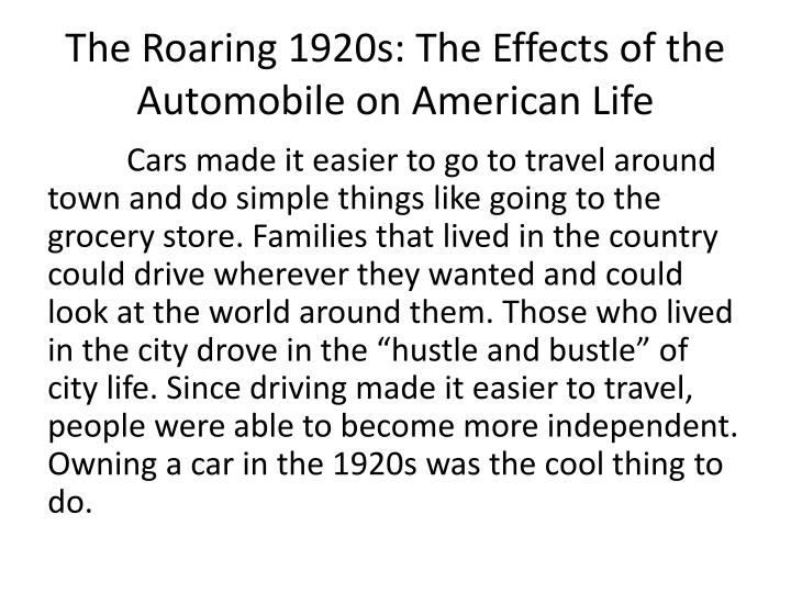the impact of the roaring twenties in american literature Answer to how did literature impact the roaring twenties.