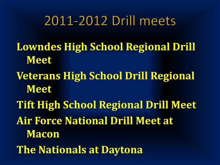 2011-2012 Drill meets