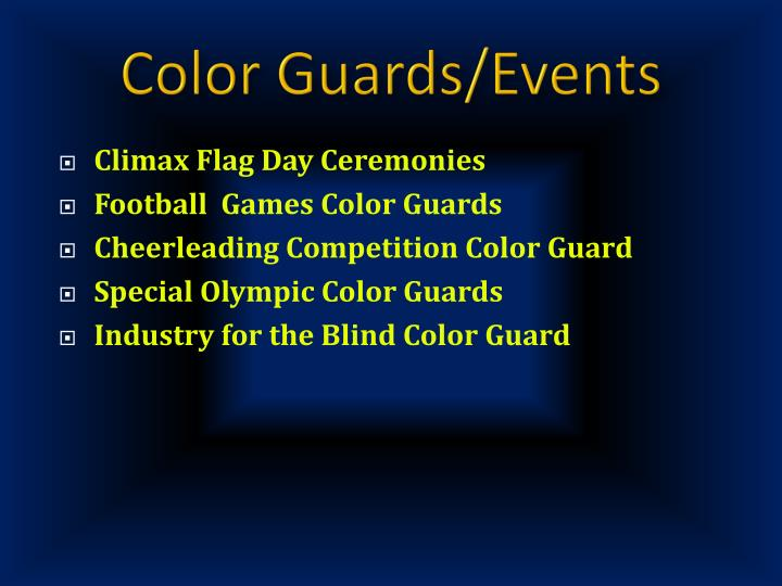 Color Guards/Events