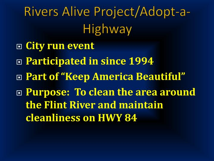 Rivers Alive Project/Adopt-a-Highway
