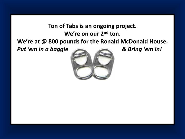 Ton of Tabs is an ongoing project.