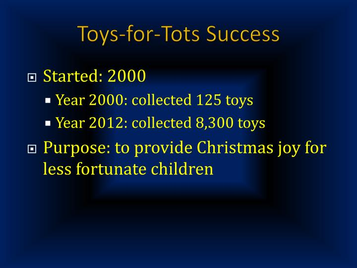 Toys-for-Tots Success