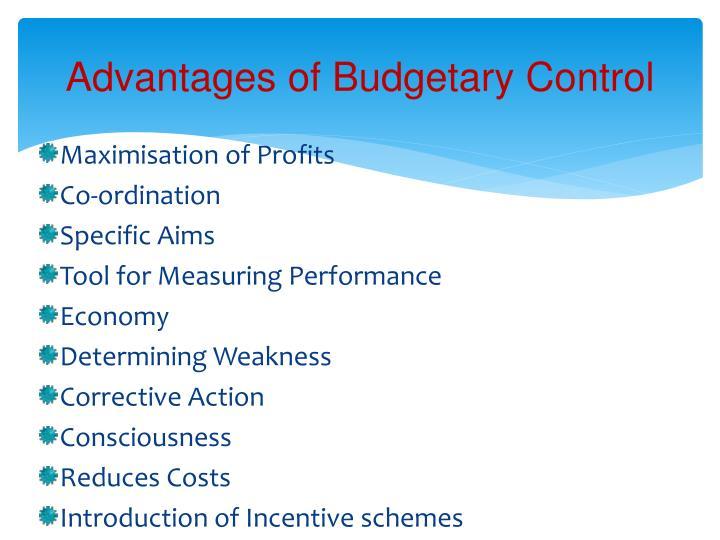 Advantages of Budgetary Control