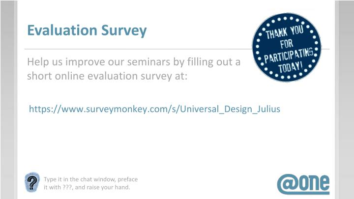 Evaluation Survey