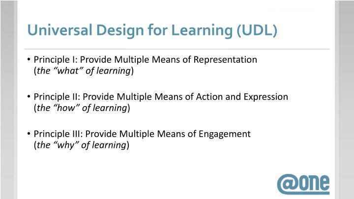 Universal Design for Learning (UDL)