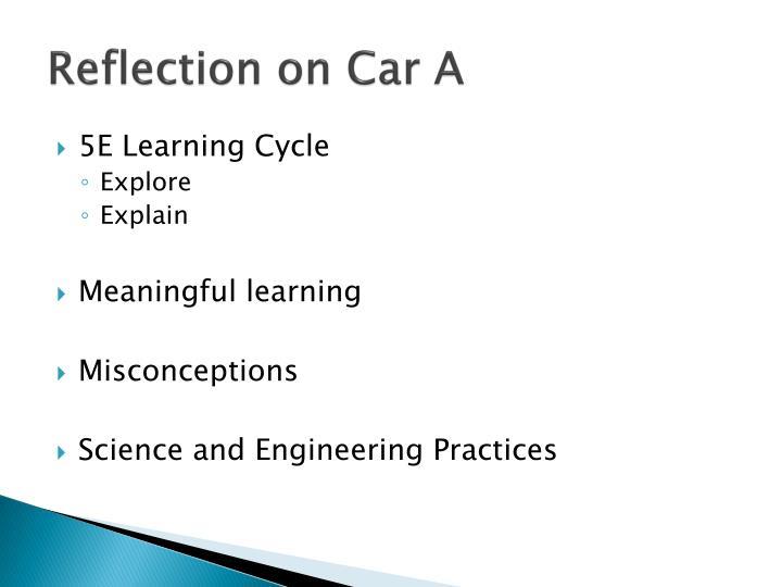 Reflection on Car A
