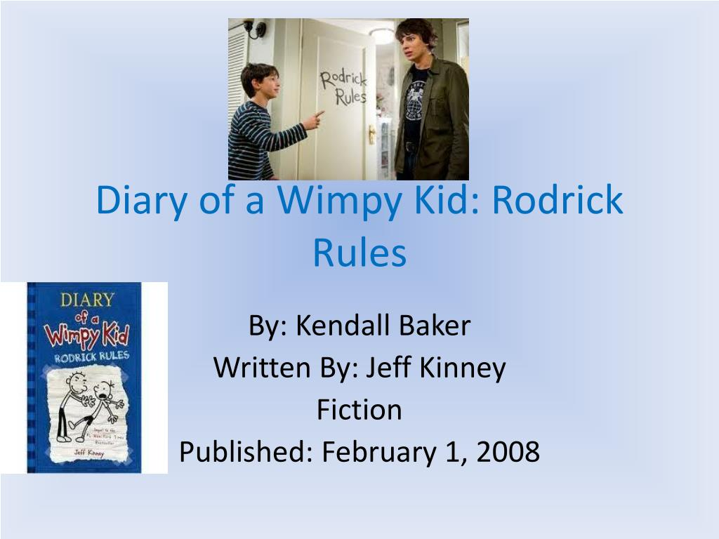 Ppt Diary Of A Wimpy Kid Rodrick Rules Powerpoint Presentation Free Download Id 2487054