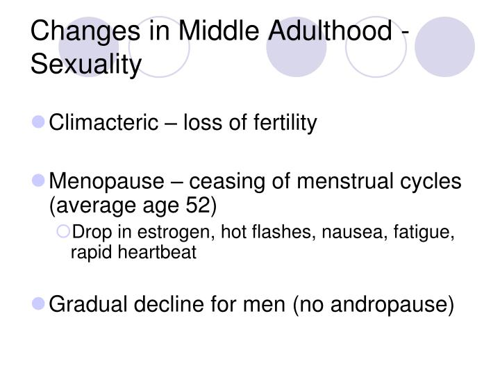Changes in Middle Adulthood - Sexuality