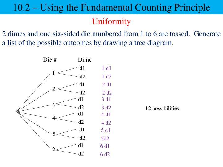 10.2 – Using the Fundamental Counting Principle