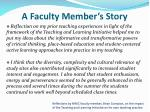 a faculty member s story