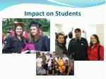 impact on students