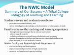 the nwic model summary of our success a tribal college pedagogy of teaching and learning