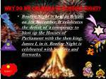why do we celebrate bonfire night