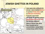 jewish ghettos in poland