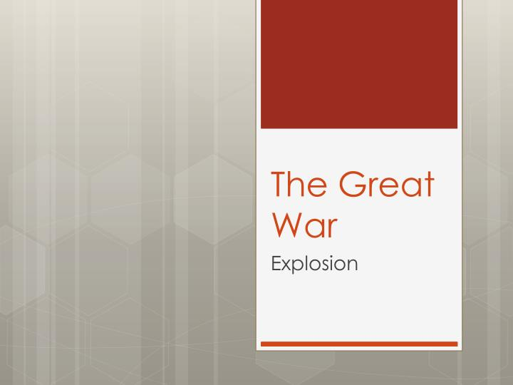the great war n.