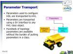 parameter transport