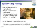system verilog topology