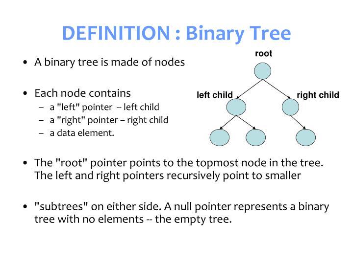 Definition binary tree