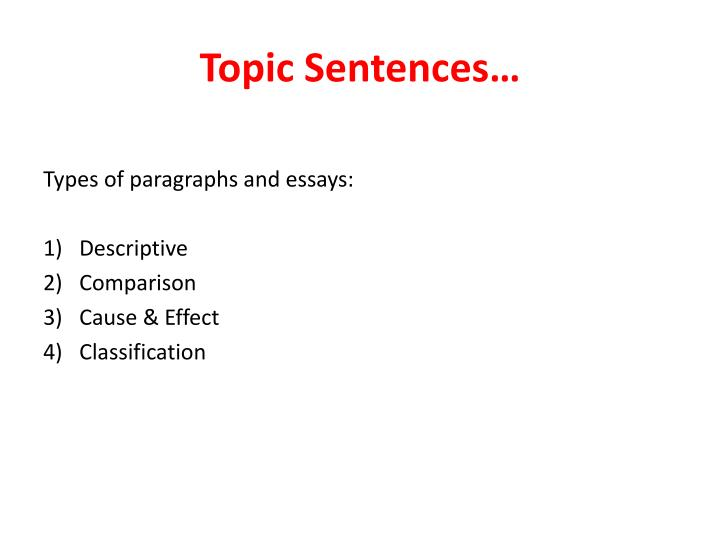 good sentences descriptive essays