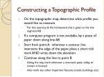 constructing a topographic profile