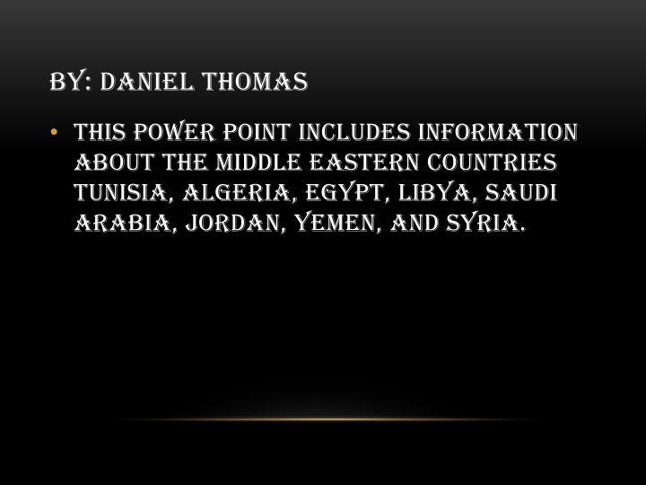 By daniel thomas