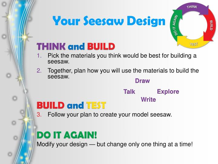 Your Seesaw Design