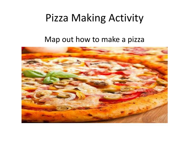 pizza making activity n.