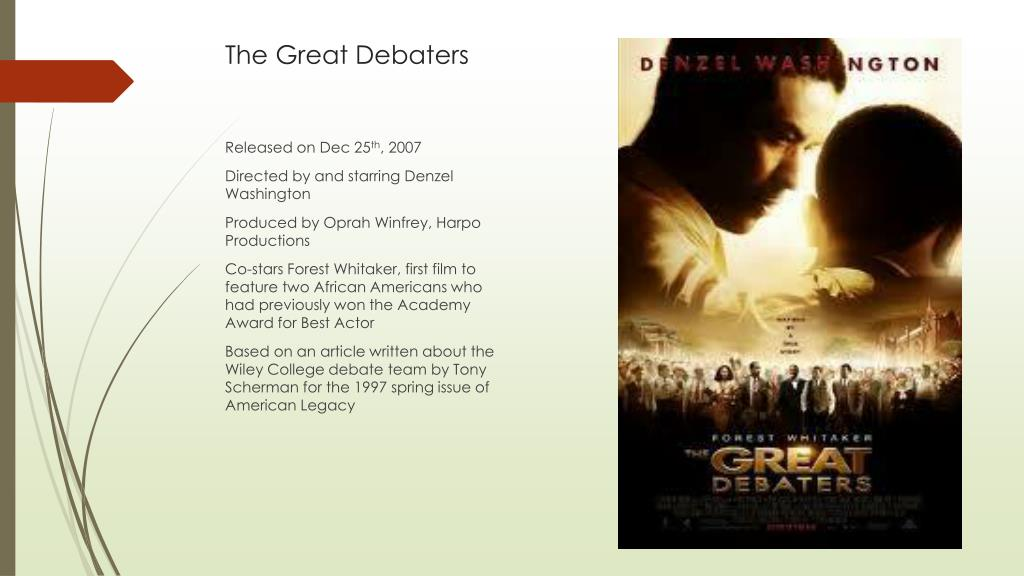 the great debaters full summary