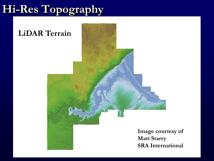hi res topography n.