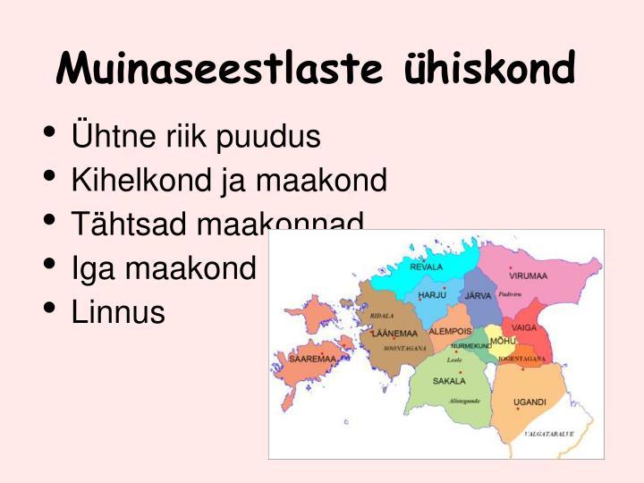 Muinaseestlaste hiskond