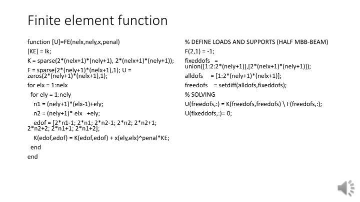 Finite element function