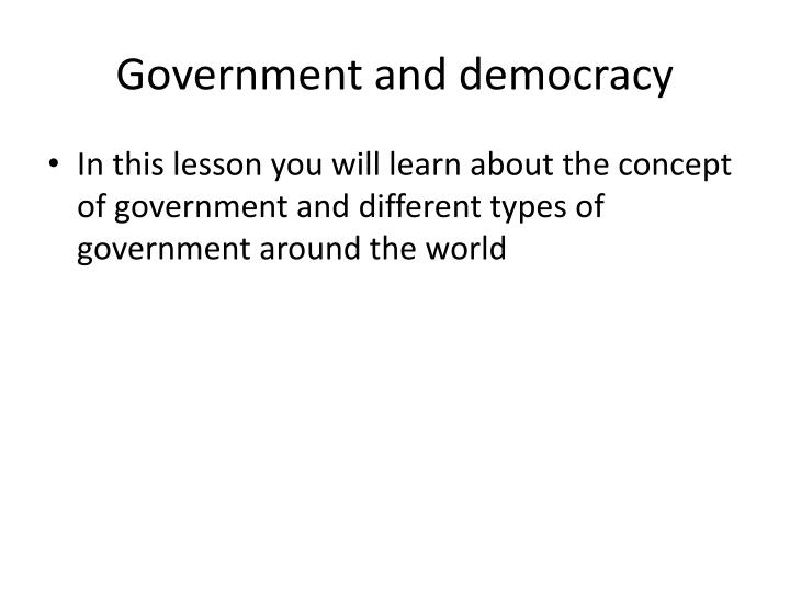 government and democracy n.