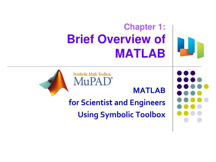 chapter 1 brief overview of matlab n.