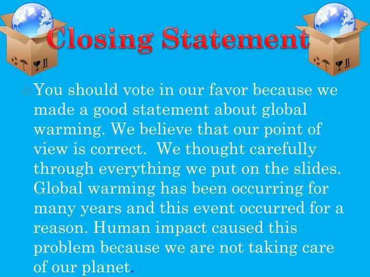 Closing Statement