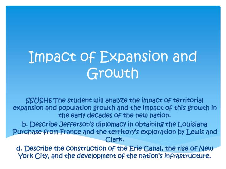 impact of expansion and growth n.
