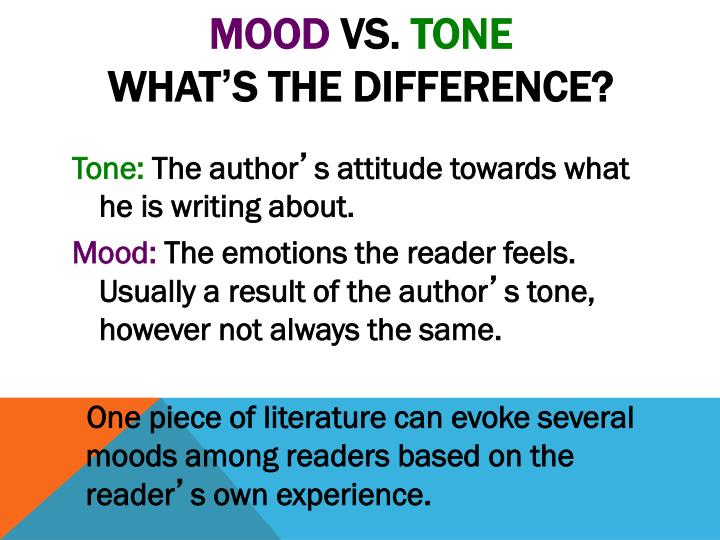 Mood vs tone what s the difference