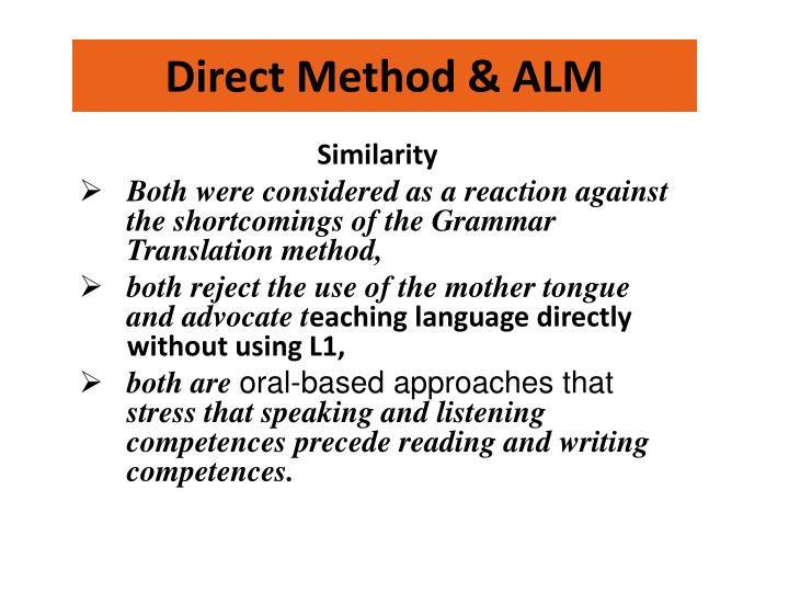similarities between grammar translation method and direct method Between an inductive and a deductive approach  translation method however, grammar teaching approaches have been largely changed  direct method relies on.