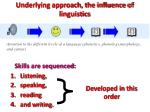 underlying approach the influence of linguistics