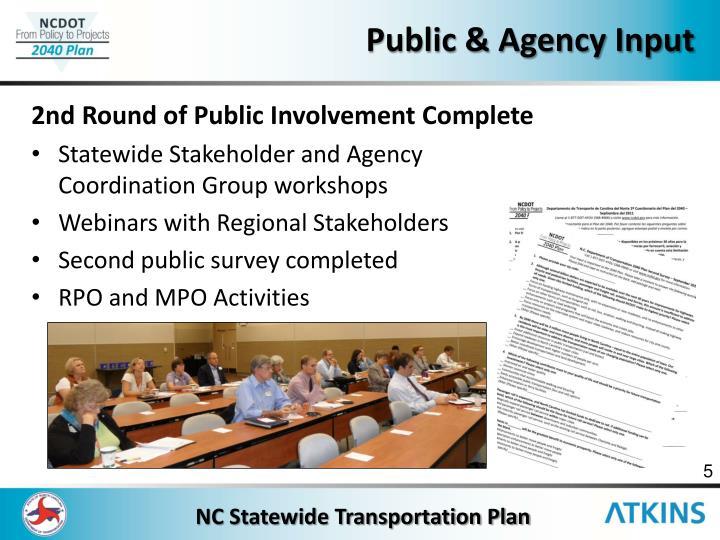 Public & Agency Input