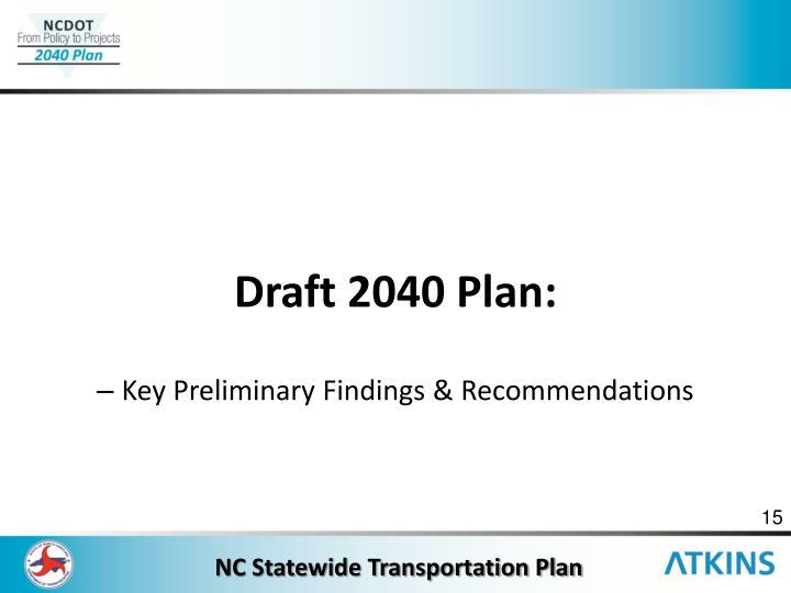 Draft 2040 Plan: