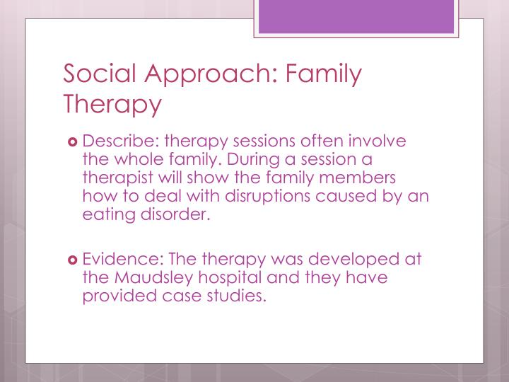 Social approach family therapy