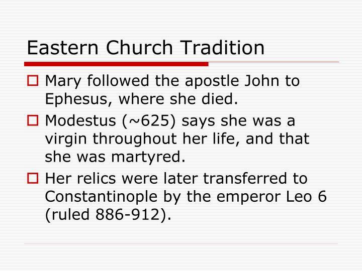 Eastern Church Tradition
