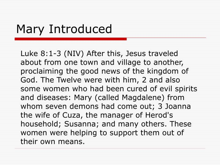 Mary Introduced