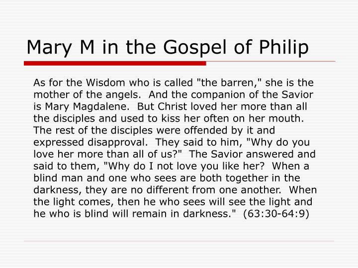 Mary M in the Gospel of Philip