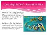 dna sequencing biochemistry