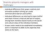 diversity presents managers with challenges