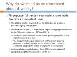 why do we need to be concerned about diversity