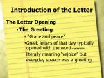 introduction of the letter5